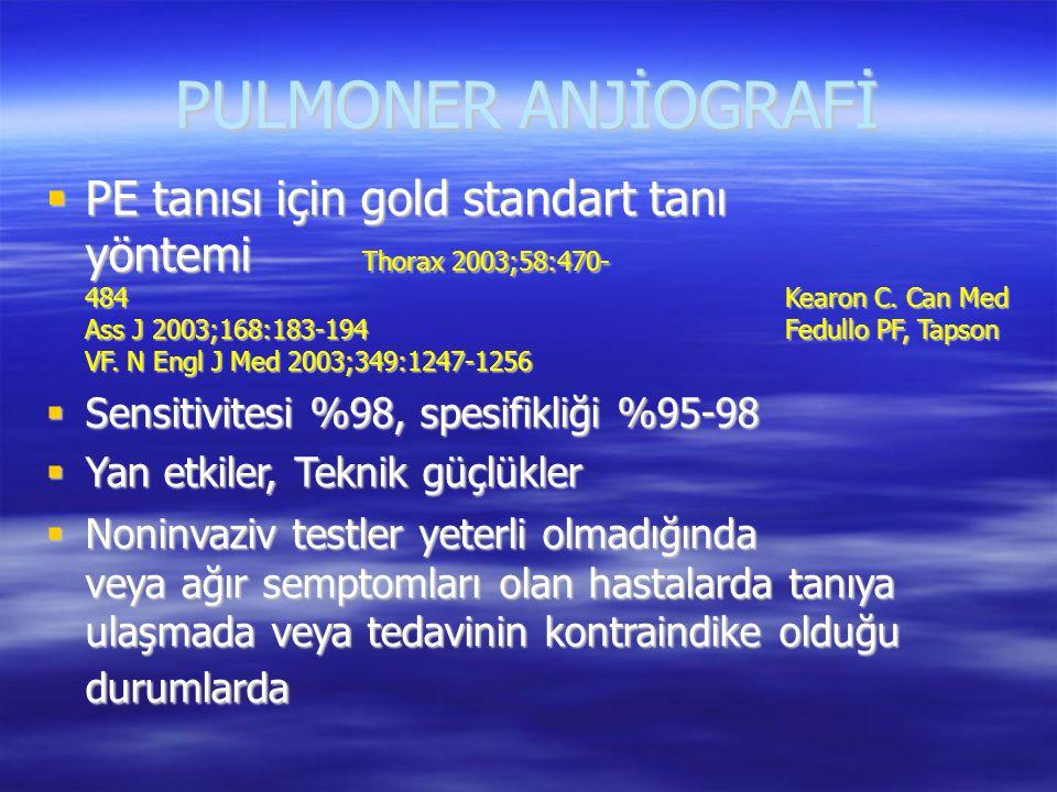 PULMONER ANJİOGRAFİ