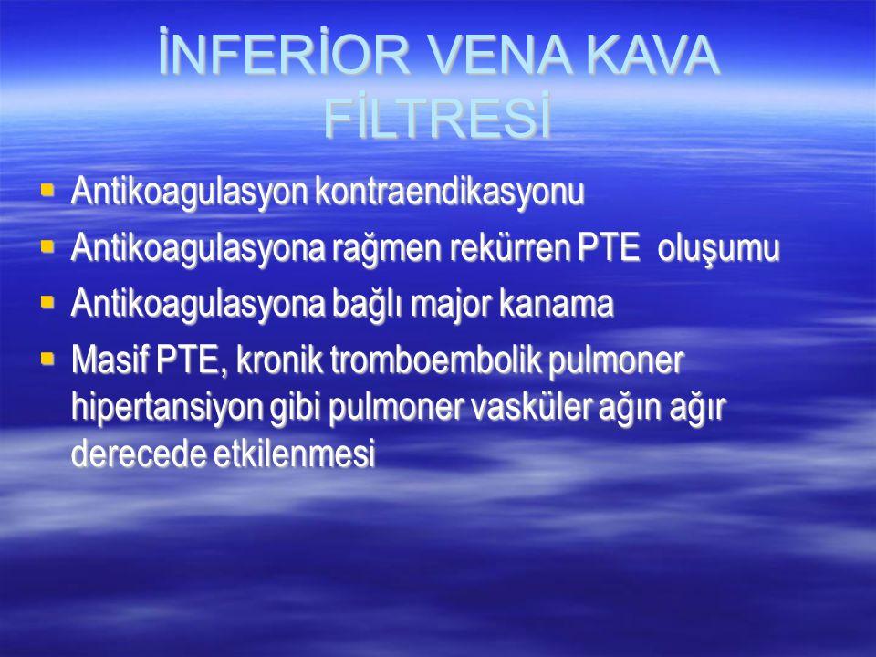 İNFERİOR VENA KAVA FİLTRESİ