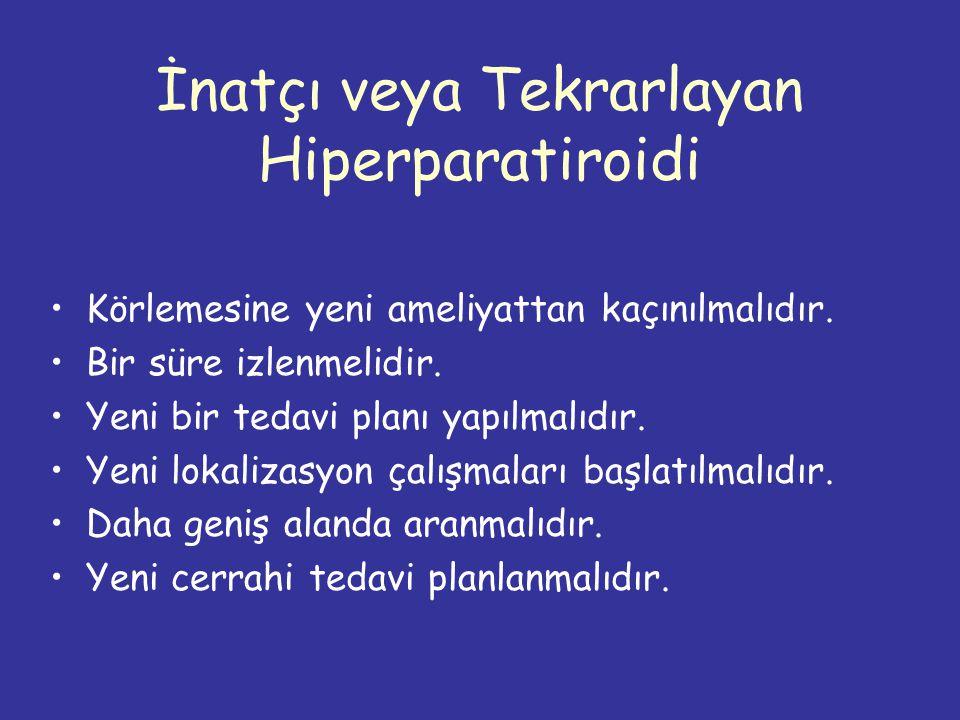 İnatçı veya Tekrarlayan Hiperparatiroidi