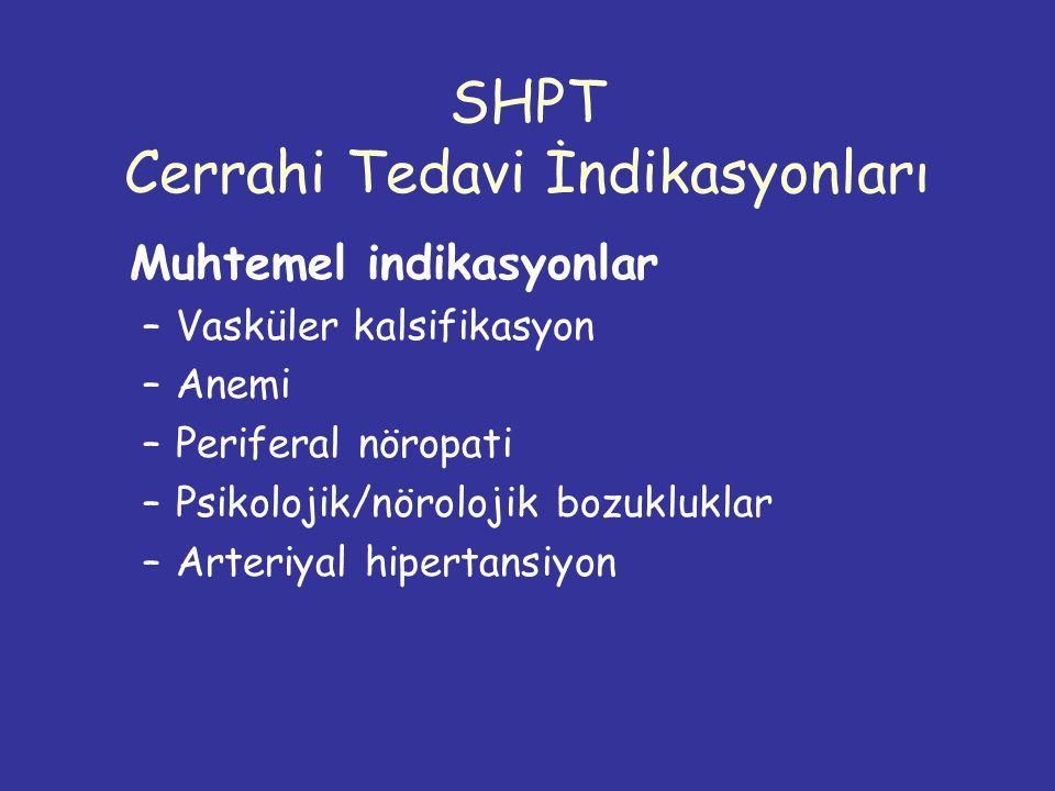 SHPT Cerrahi Tedavi İndikasyonları