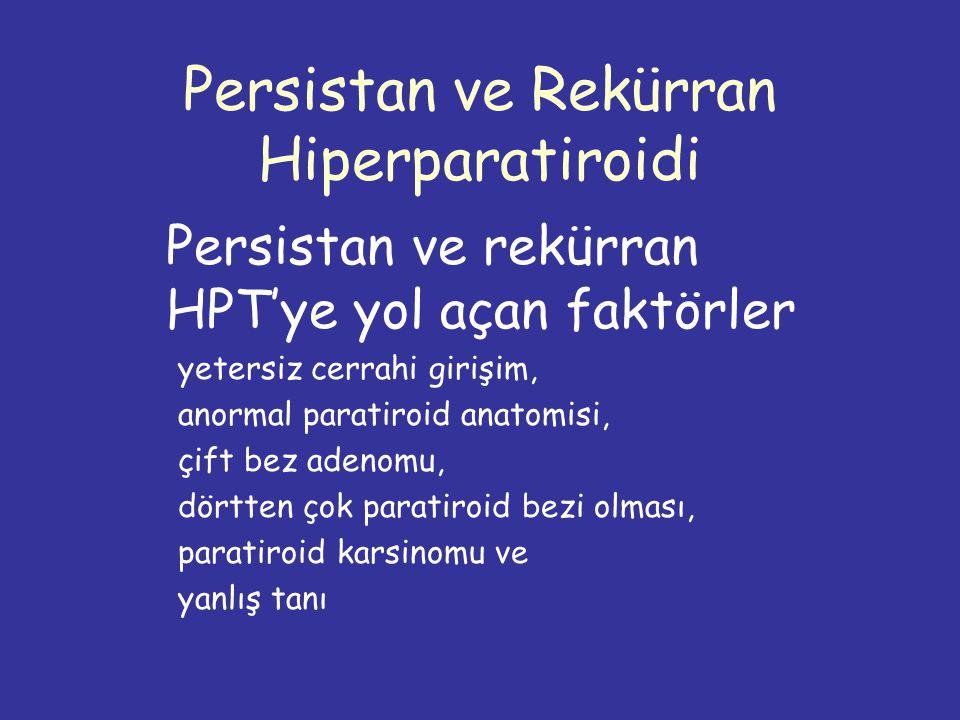 Persistan ve Rekürran Hiperparatiroidi