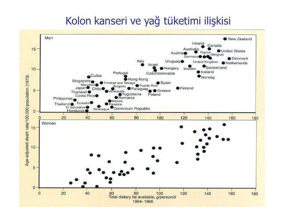 Kolon kanseri ve yağ tüketimi ilişkisi