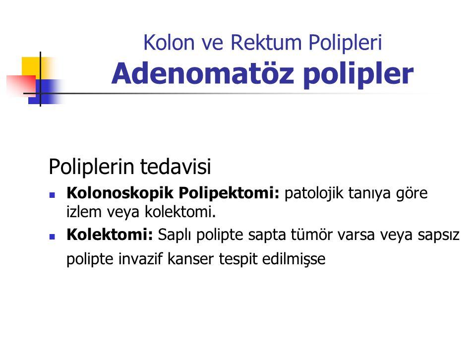 Kolon ve Rektum Polipleri Adenomatöz polipler