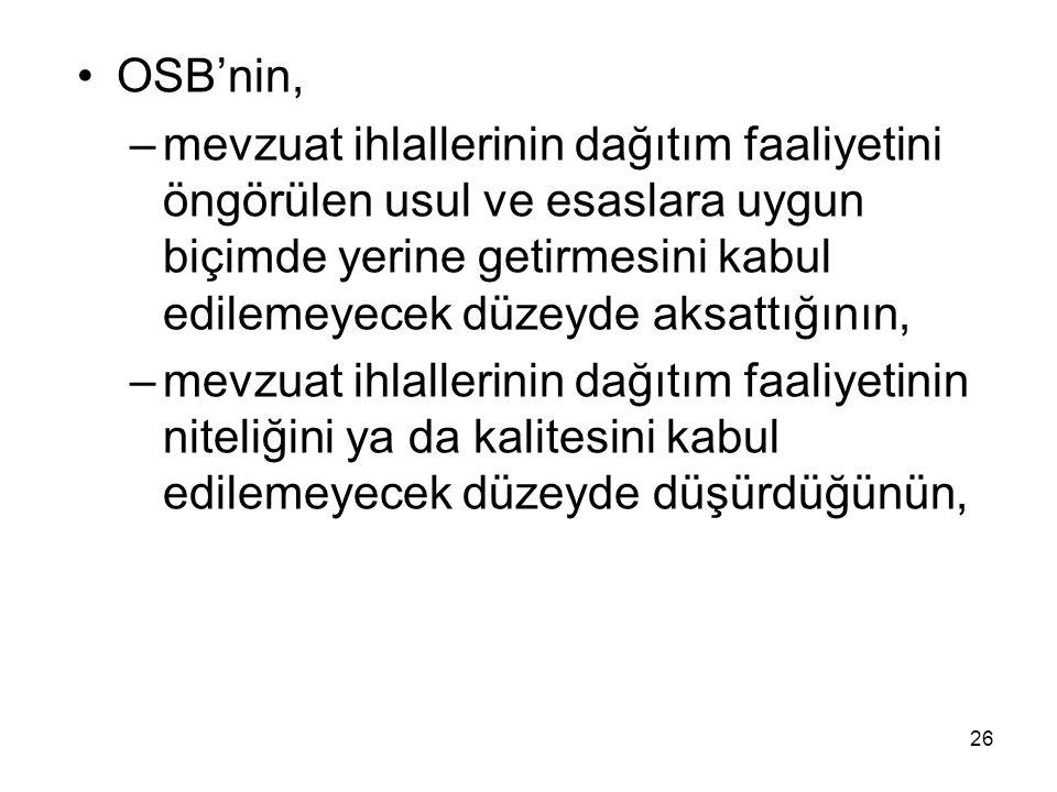 OSB'nin,
