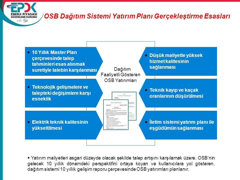 OSB Dağıtım Sistemi Yatırım Planı Gerçekleştirme Esasları