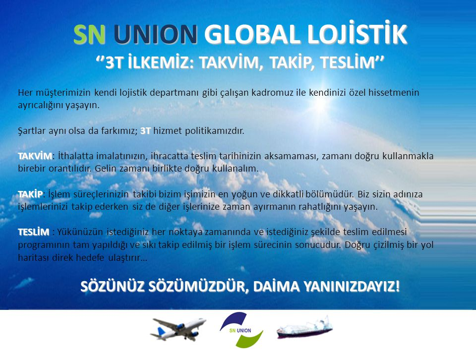 SN UNION GLOBAL LOJİSTİK
