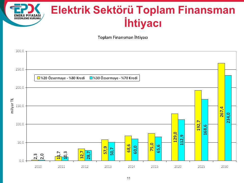 Elektrik Sektörü Toplam Finansman İhtiyacı