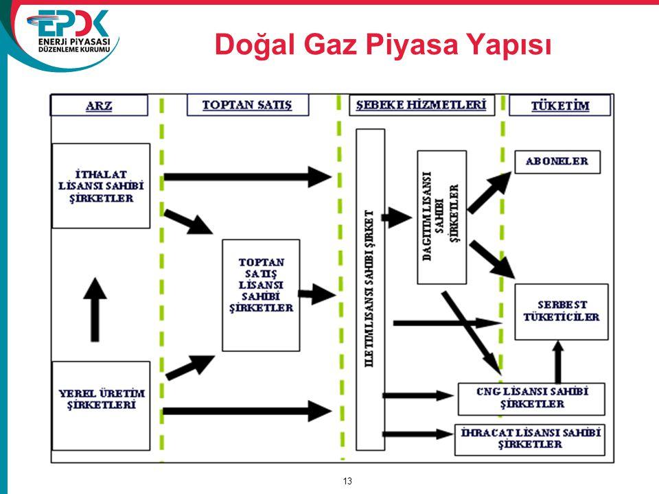 Doğal Gaz Piyasa Yapısı