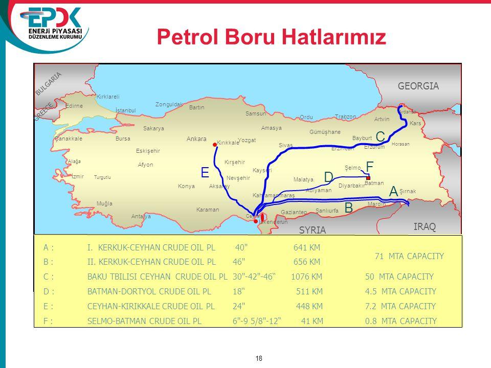 Petrol Boru Hatlarımız