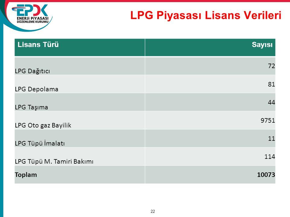 LPG Piyasası Lisans Verileri