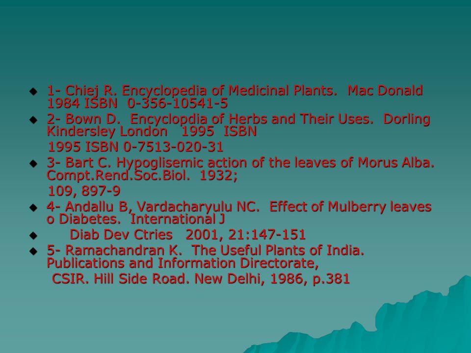 1- Chiej R. Encyclopedia of Medicinal Plants