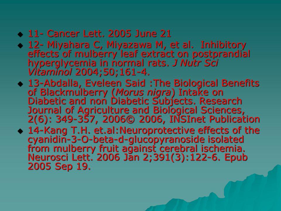 11- Cancer Lett. 2005 June 21