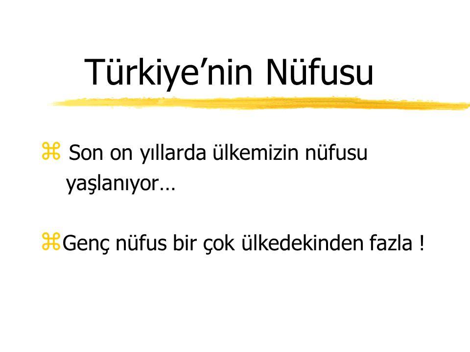 Türkiye'nin Nüfusu Son on yıllarda ülkemizin nüfusu yaşlanıyor…