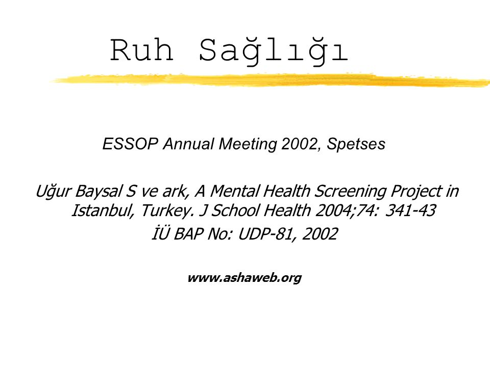 ESSOP Annual Meeting 2002, Spetses