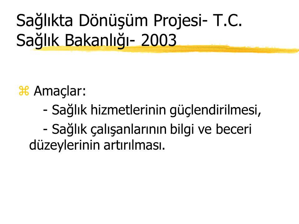 Sağlıkta Dönüşüm Projesi- T.C. Sağlık Bakanlığı- 2003