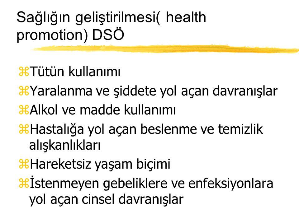 Sağlığın geliştirilmesi( health promotion) DSÖ