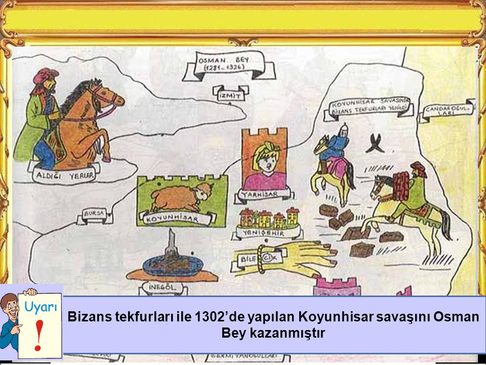 Osman Bey döneminde alınan yerleri söyleyiniz.