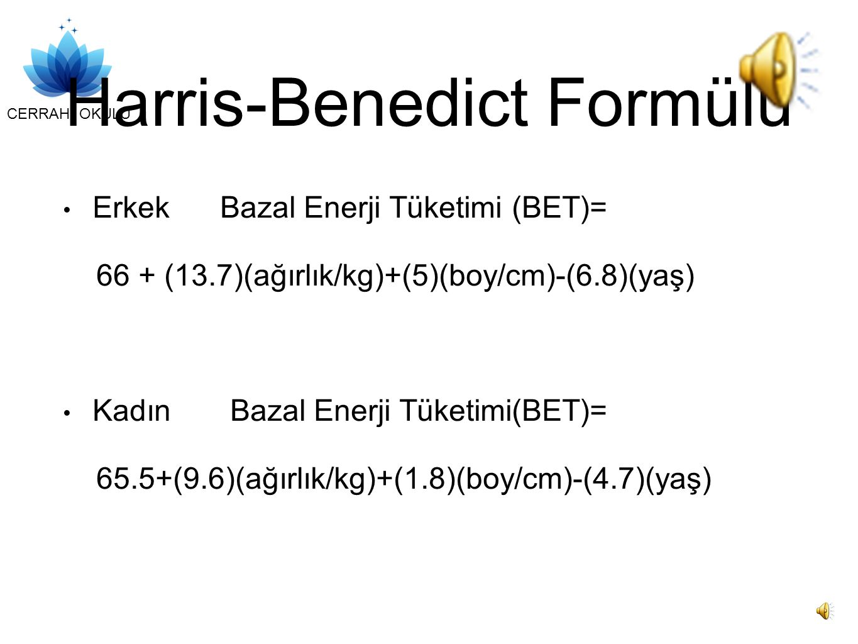 Harris-Benedict Formülü