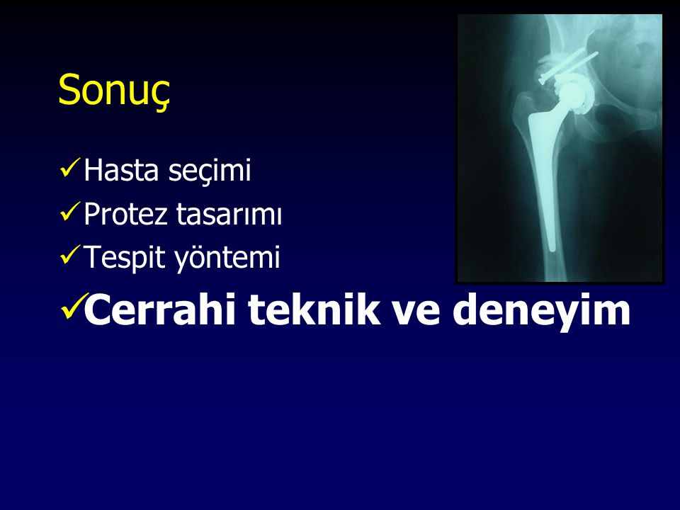 Cerrahi teknik ve deneyim