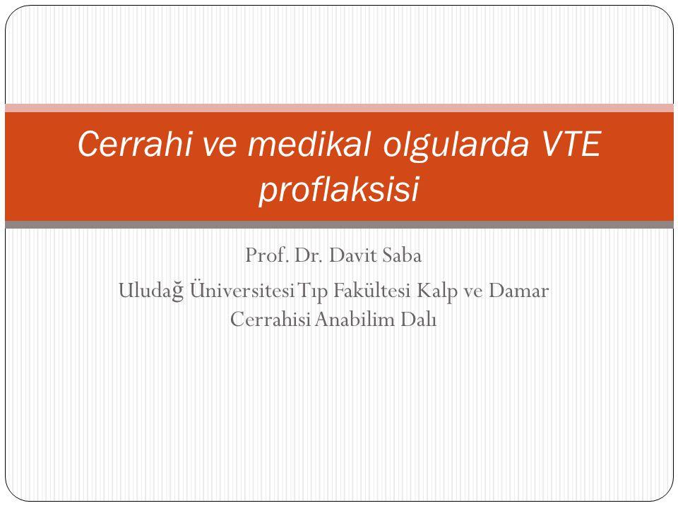 Cerrahi ve medikal olgularda VTE proflaksisi