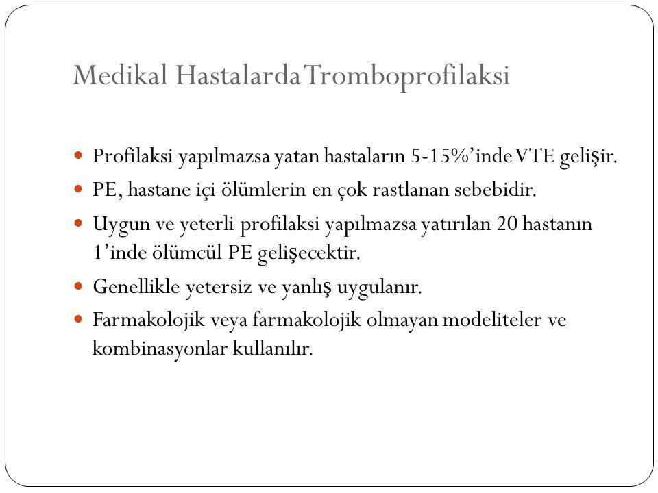 Medikal Hastalarda Tromboprofilaksi