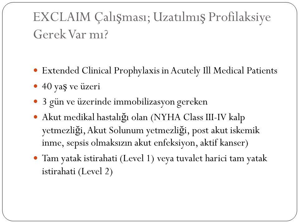 EXCLAIM Çalışması; Uzatılmış Profilaksiye Gerek Var mı