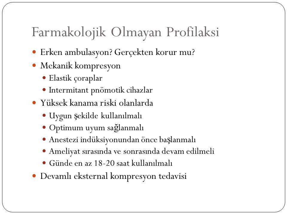 Farmakolojik Olmayan Profilaksi