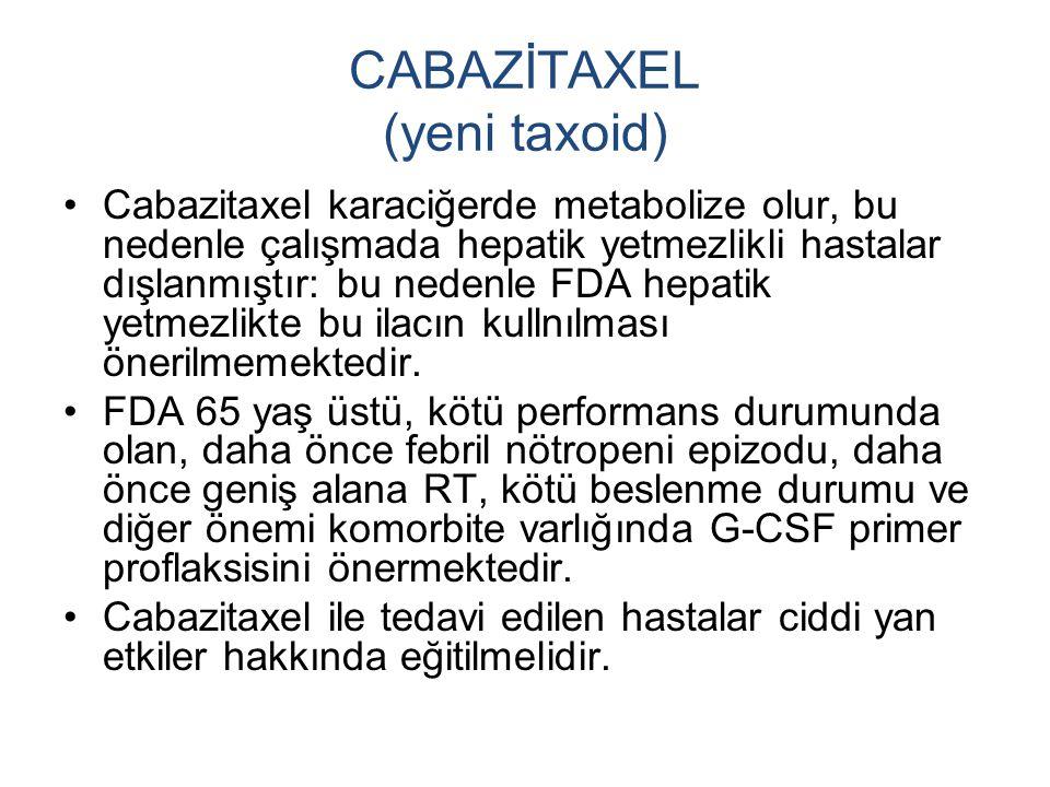 CABAZİTAXEL (yeni taxoid)