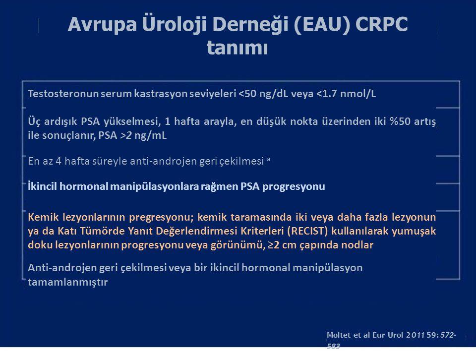Avrupa Üroloji Derneği (EAU) CRPC tanımı
