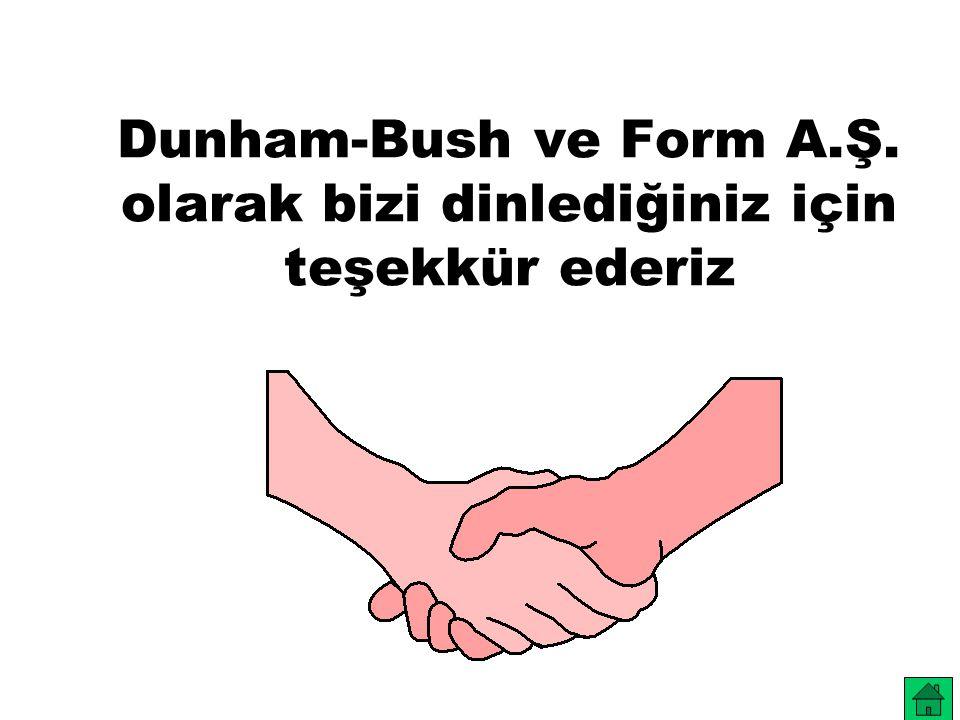 Dunham-Bush ve Form A.Ş. olarak bizi dinlediğiniz için teşekkür ederiz