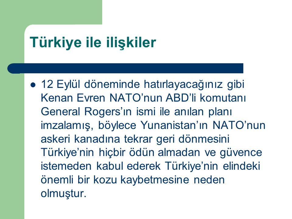 Türkiye ile ilişkiler