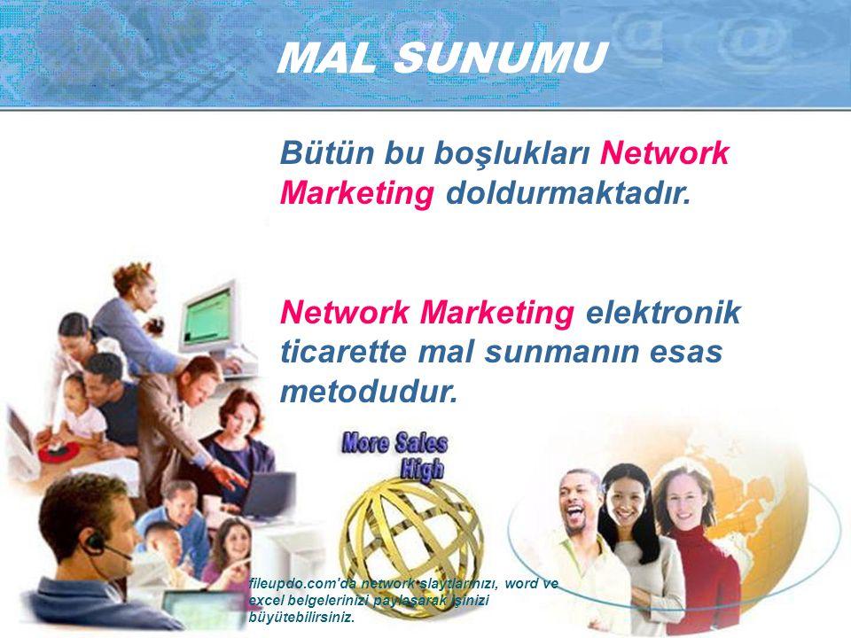 MAL SUNUMU Bütün bu boşlukları Network Marketing doldurmaktadır.