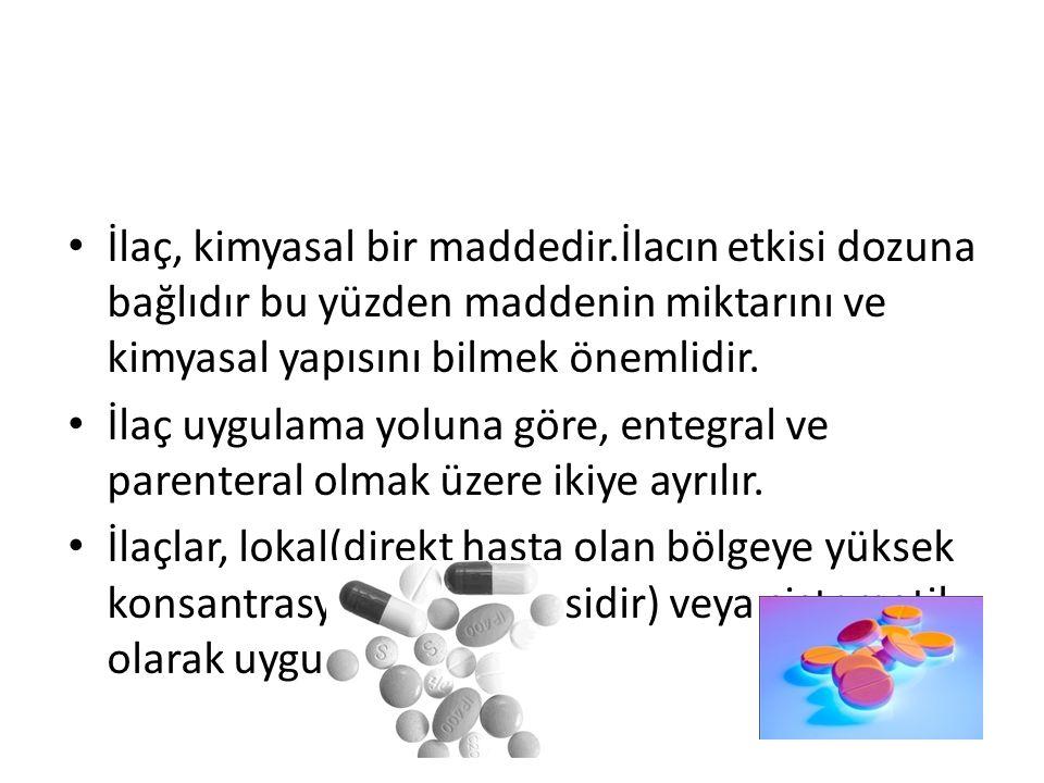 İlaç, kimyasal bir maddedir