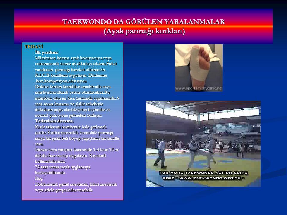 TAEKWONDO DA GÖRÜLEN YARALANMALAR (Ayak parmağı kırıkları)
