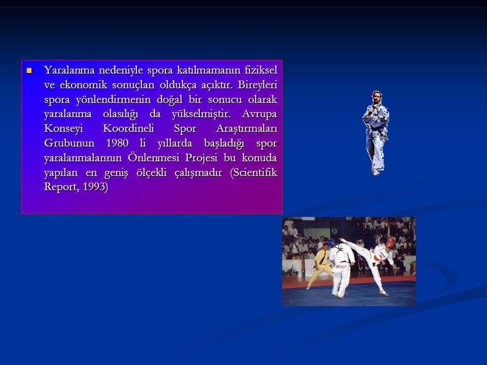 Yaralanma nedeniyle spora katılmamanın fiziksel ve ekonomik sonuçları oldukça açıktır.
