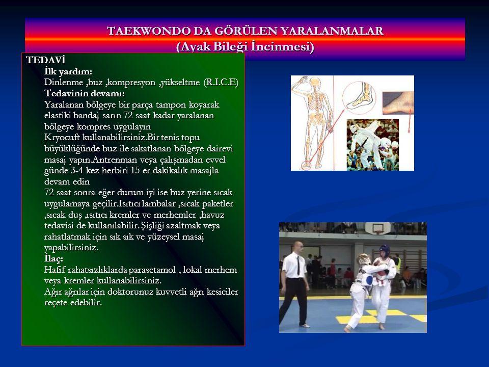 TAEKWONDO DA GÖRÜLEN YARALANMALAR (Ayak Bileği İncinmesi)
