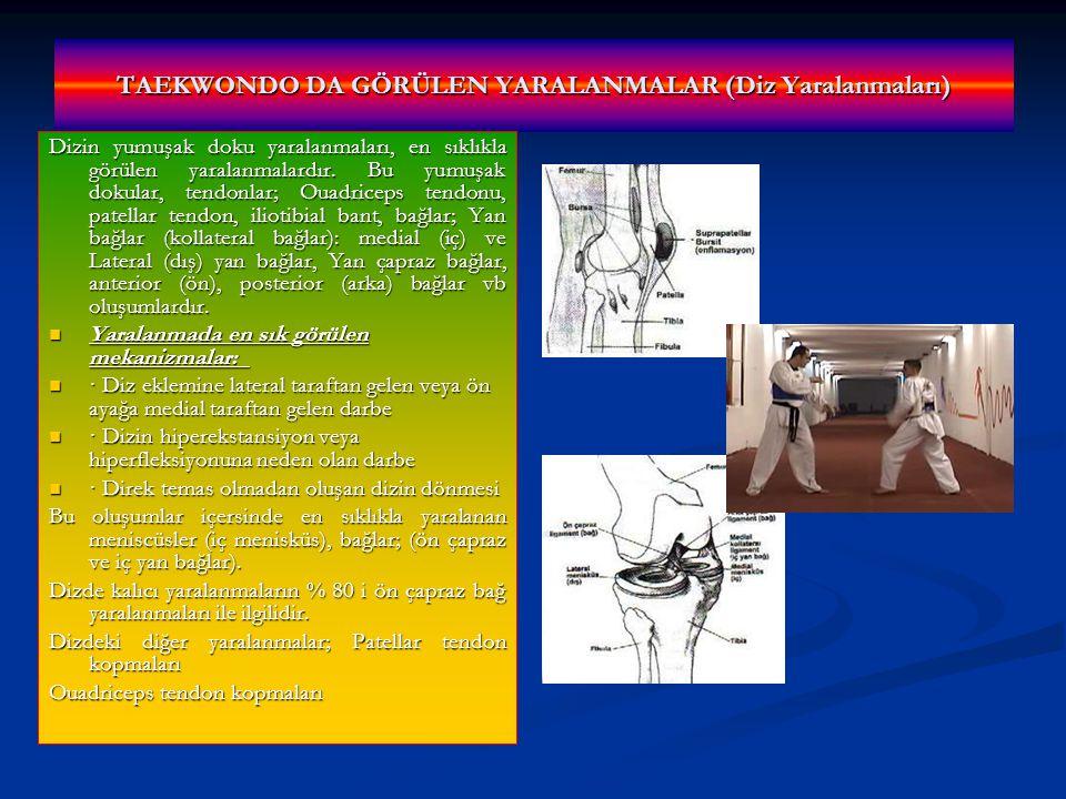 TAEKWONDO DA GÖRÜLEN YARALANMALAR (Diz Yaralanmaları)