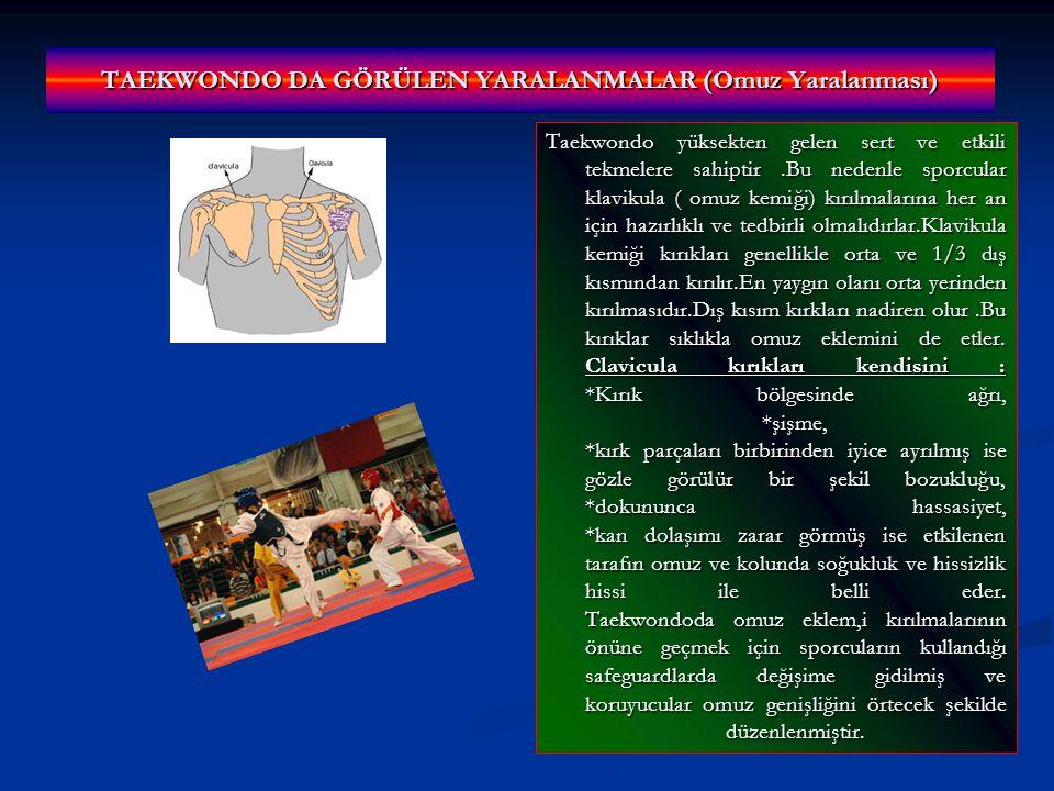 TAEKWONDO DA GÖRÜLEN YARALANMALAR (Omuz Yaralanması)