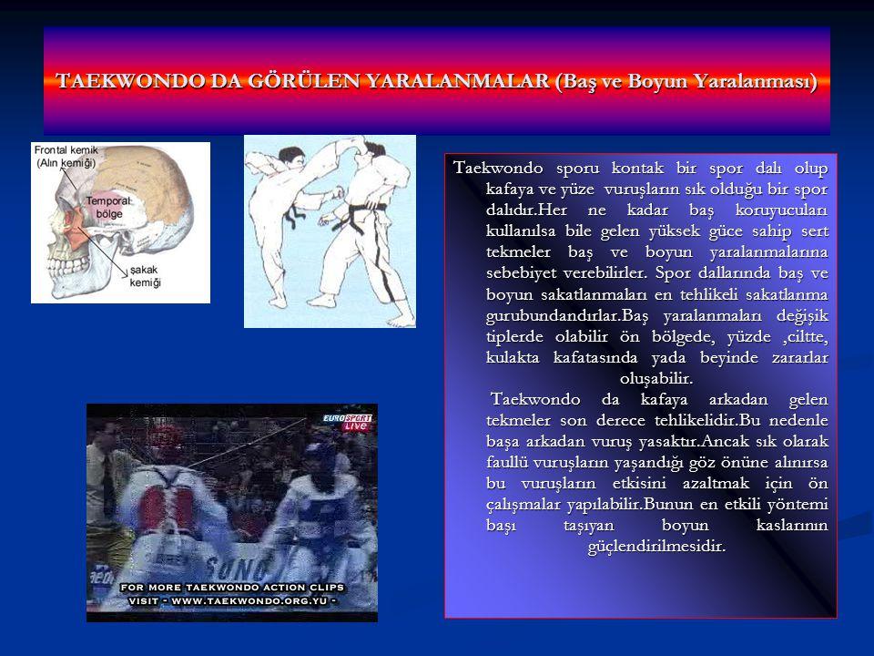 TAEKWONDO DA GÖRÜLEN YARALANMALAR (Baş ve Boyun Yaralanması)