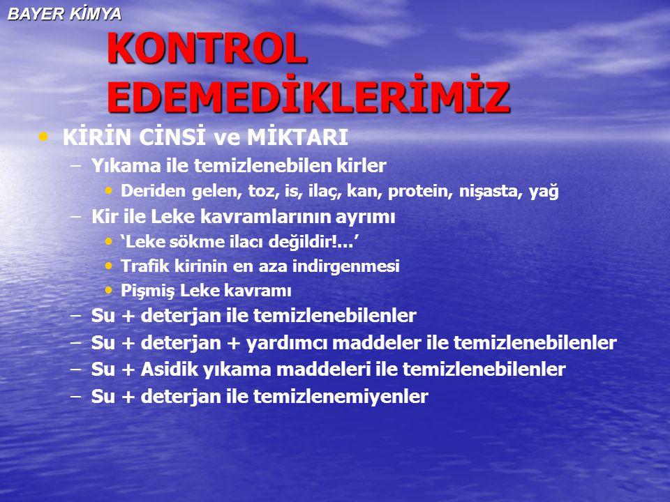 KONTROL EDEMEDİKLERİMİZ