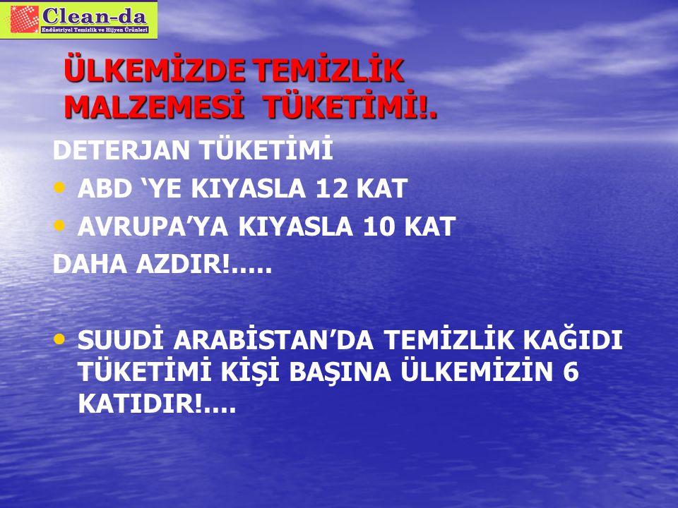 ÜLKEMİZDE TEMİZLİK MALZEMESİ TÜKETİMİ!.
