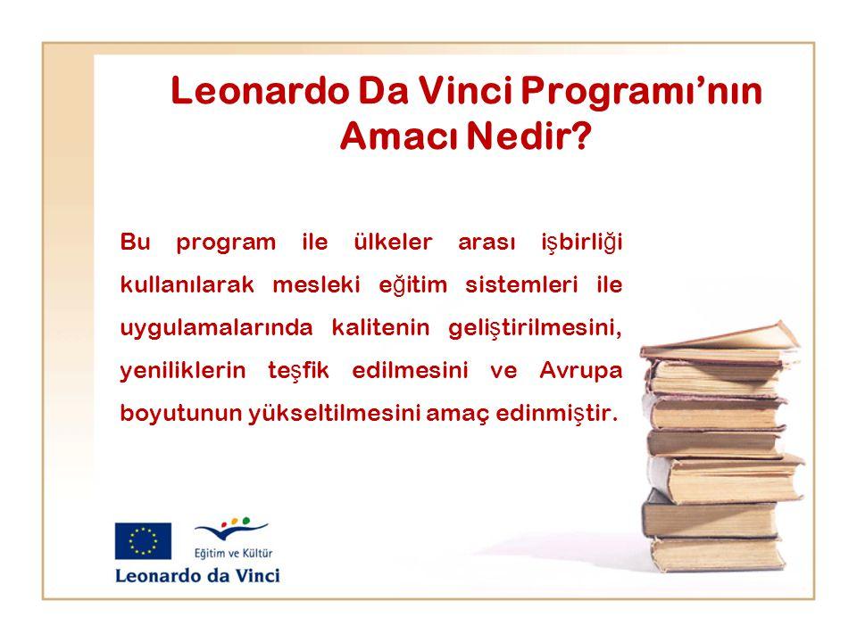 Leonardo Da Vinci Programı'nın Amacı Nedir