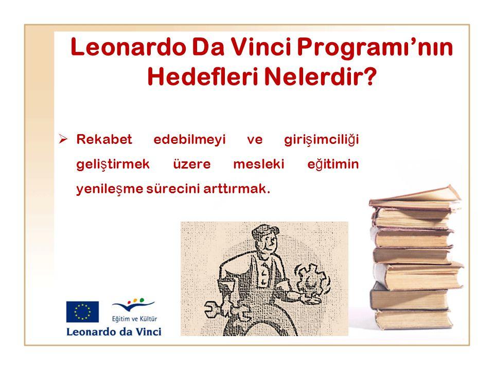 Leonardo Da Vinci Programı'nın Hedefleri Nelerdir