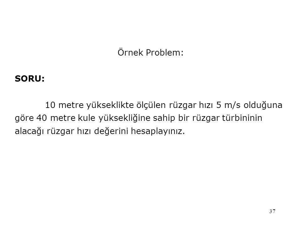 Örnek Problem: SORU: