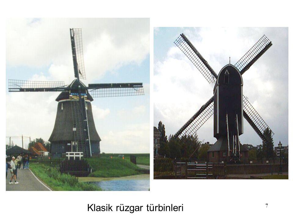 Klasik rüzgar türbinleri