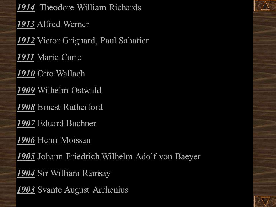 1914 Theodore William Richards