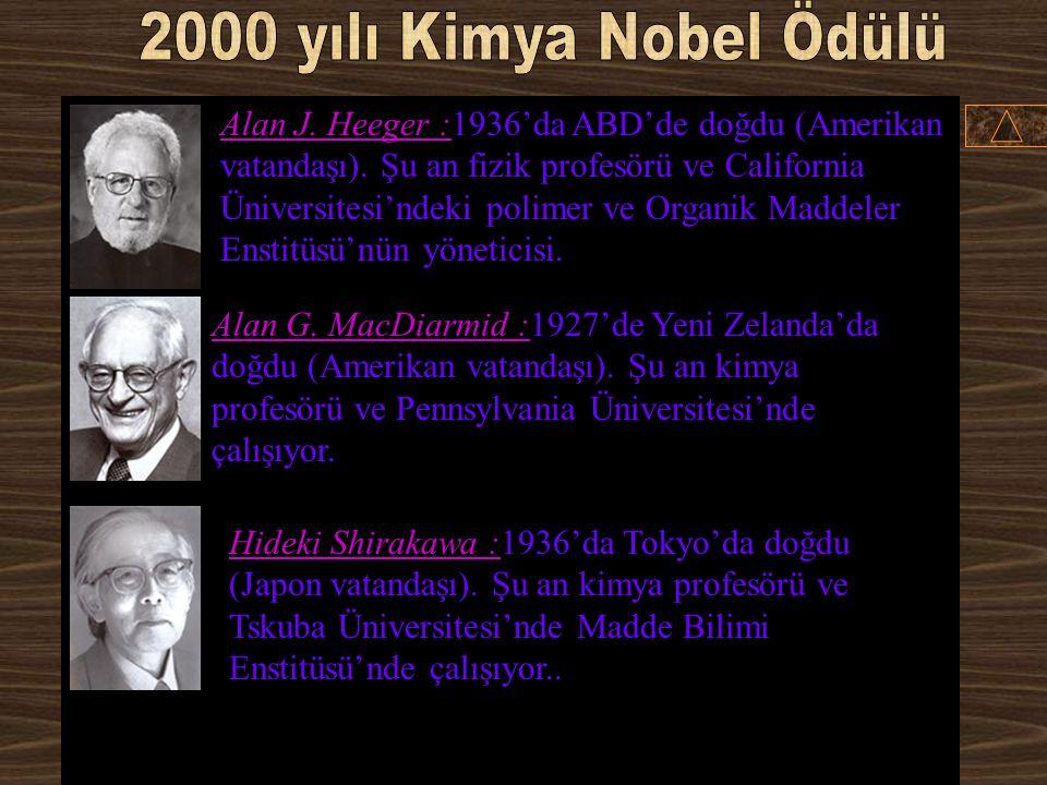2000 yılı Kimya Nobel Ödülü