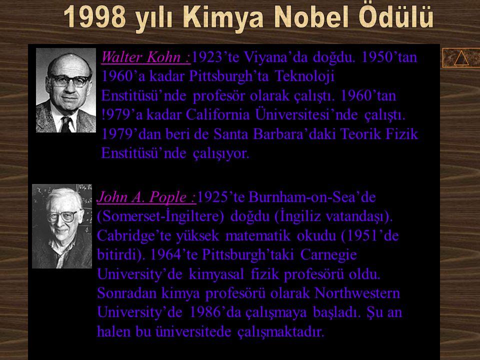 1998 yılı Kimya Nobel Ödülü
