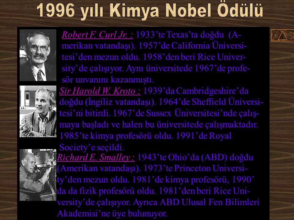 1996 yılı Kimya Nobel Ödülü