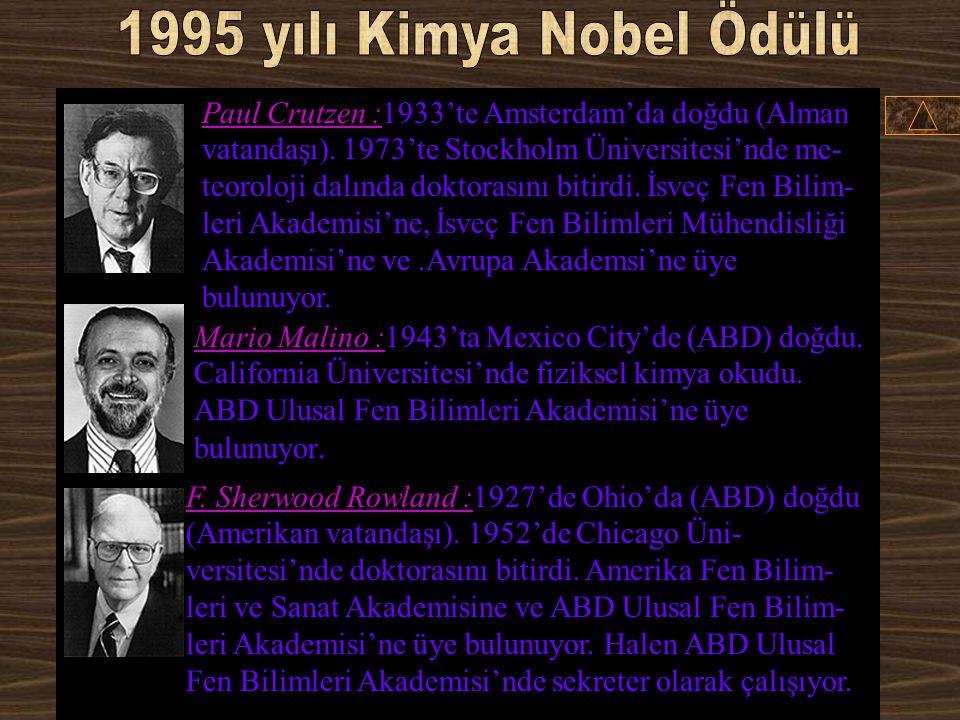 1995 yılı Kimya Nobel Ödülü
